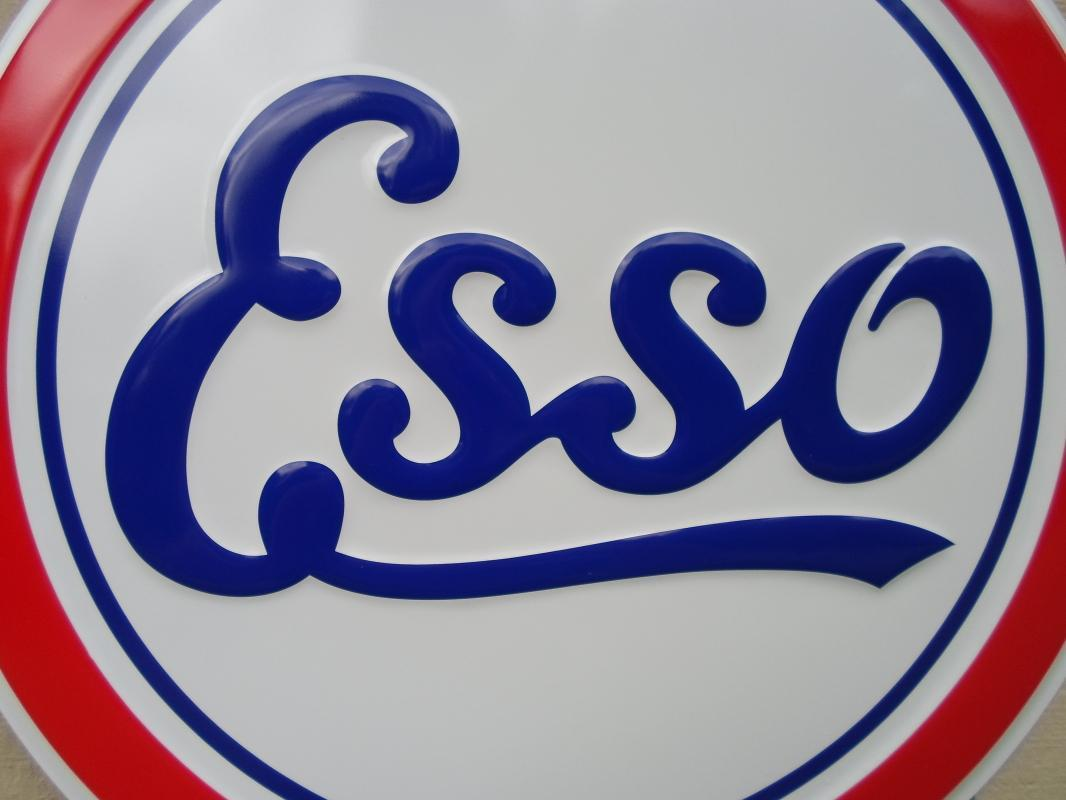OUR LARGEST ESSO GAS & OIL SERVICE METAL SIGN // MADE IN USA