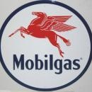 OUR LARGEST MOBIL GASOLINE SIGN - LOW SHIPPING COST