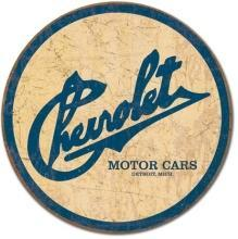 OUR LARGEST CHEVROLET MOTOR CARS Detroit Michigan Sign / FREE SHIPPING