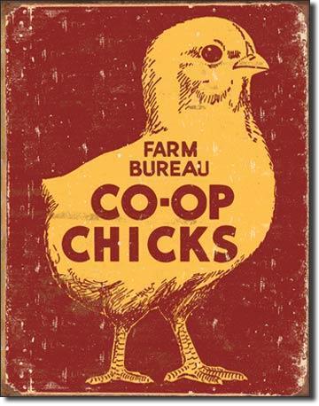 Farm Bureau CO-OP Chicks  Sign / FREE SHIPPING
