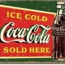 ICE COLD COCA COLA SOLD HERE SIGN -- FREE SHIPPING