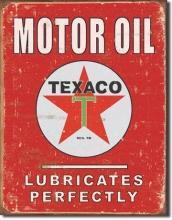TEXACO MOTOR OIL SIGN -- FREE SHIPPING