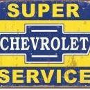 SUPER CHEVROLET SERVICE SIGN -- FREE SHIPPING
