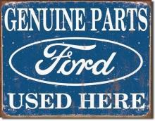 GENUINE FORD PARTS SIGN -- FREE SHIPPING