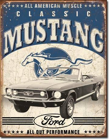 CLASSIC MUSTANG SIGN -- FREE SHIPPING