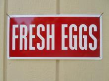 Country Fresh Eggs Metal Sign / FREE SHIPPING