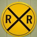 OUR LARGEST RAILROAD CROSSING SIGN