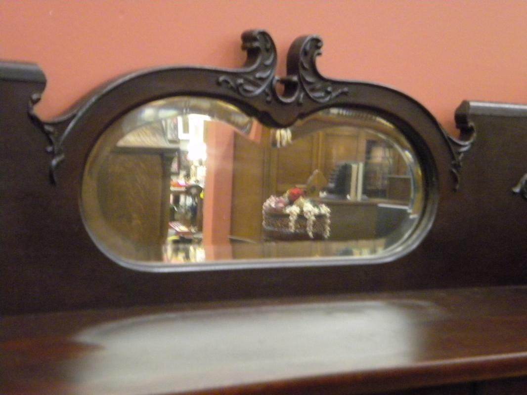 Mahogany Bookcase, 2 door