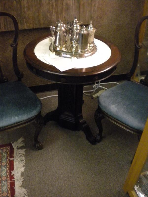 Victorian Rosewood Marble Top Table