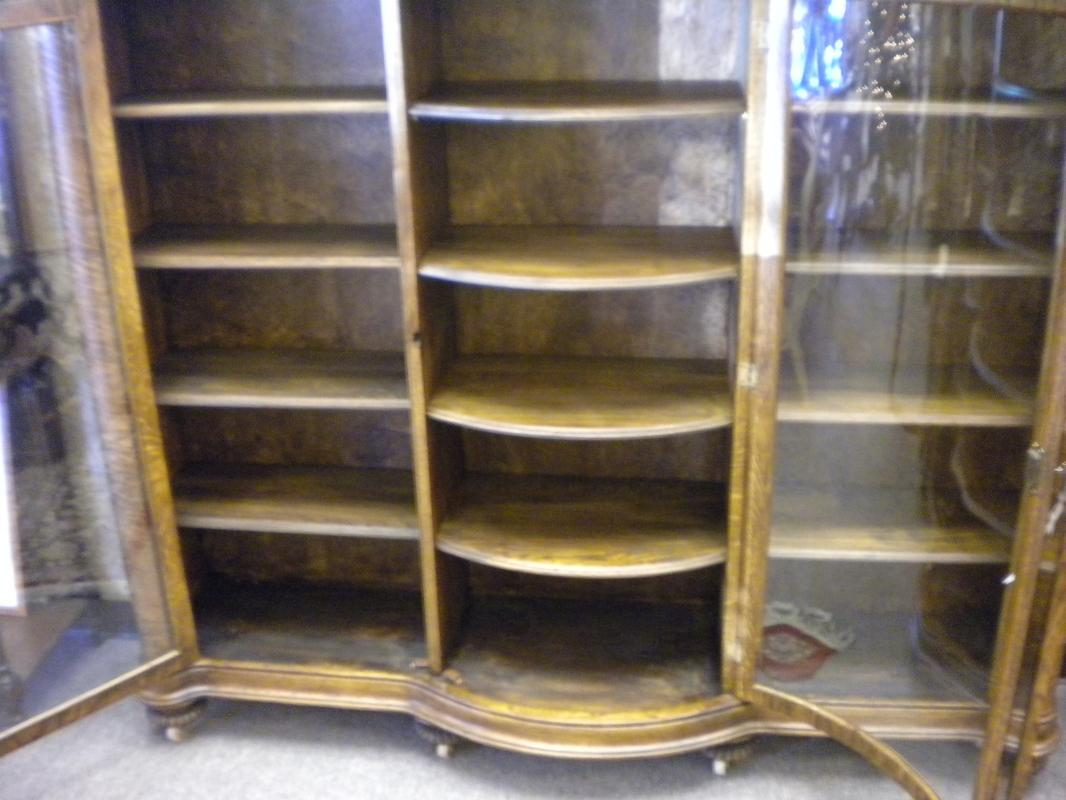American Oak Bookcase, 3 Doors