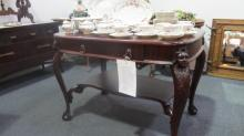 Library Table (Mahogany) With Lady's Heads