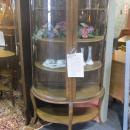 Oak Curved Glass China, Curio Cabinet (small)