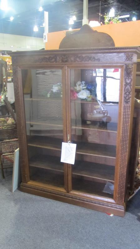 American Oak Bookcase (very fine, 2 door)