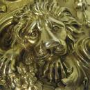 Important Pair Antique Silver Gilt Candelabra