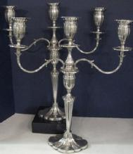 English, Sterling Silver Pair Of Candelabra