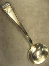 Antique English Old English Thread  Pattern Gravy Ladle