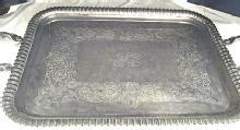 English, Sterling Silver, Large Rectangular Tray