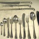 Dinner Service For 12. Sterling Silver, 3 Prong Rattail Set