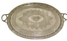 Antique Victorian 2 Handled Sterling Silver Tray