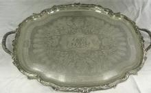 Antique French, Large Sterling Tray By Odiot, Paris
