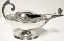 Aladin's Lamp Spoon Warmer. Antique English