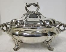 Antique English, Old Sheffield Plate Soup Tureen. Circa 1825