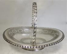 Antique Victorian Sterling Silver basket. Elkington & Co. 1860