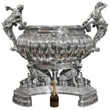 A Monumental Sterling Silver Wine Cistern