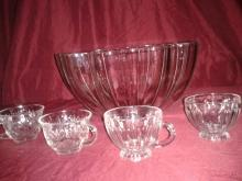 Vintage Punchbowl and 20 cups