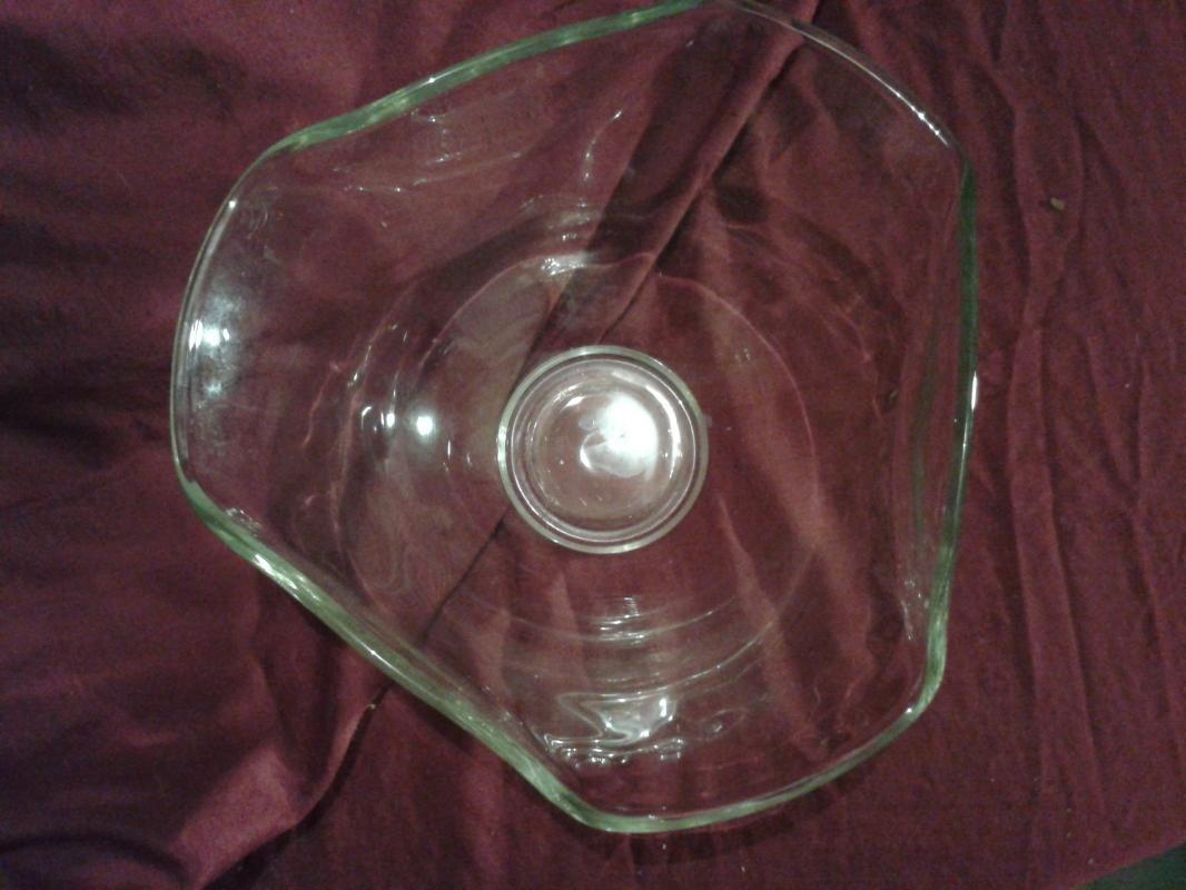 Stylish 1960's Glass Bowl