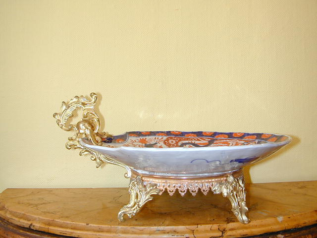 Large19th.cent.Imari &Gilt Bronze Platter