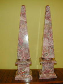 Large Pair of  Rhodochrosite OBELISKS
