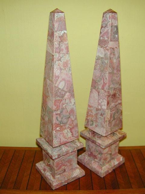 Large Pair of  Rhodochrosite OBELISKS
