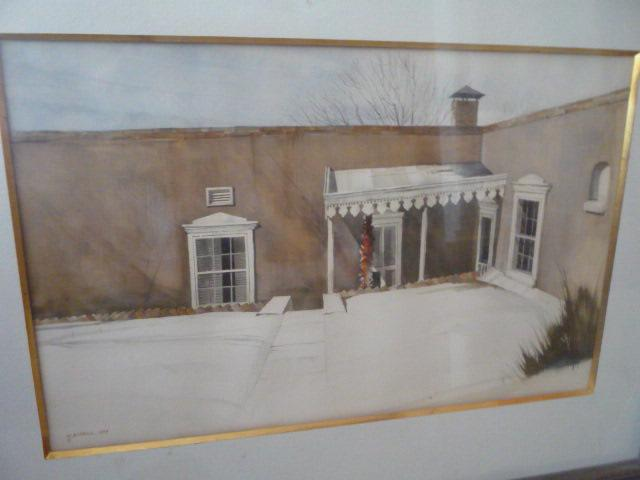 WATER COLOR PAINTING OF HOUSE OF VIVIAN VANCE BY M RIPPEL