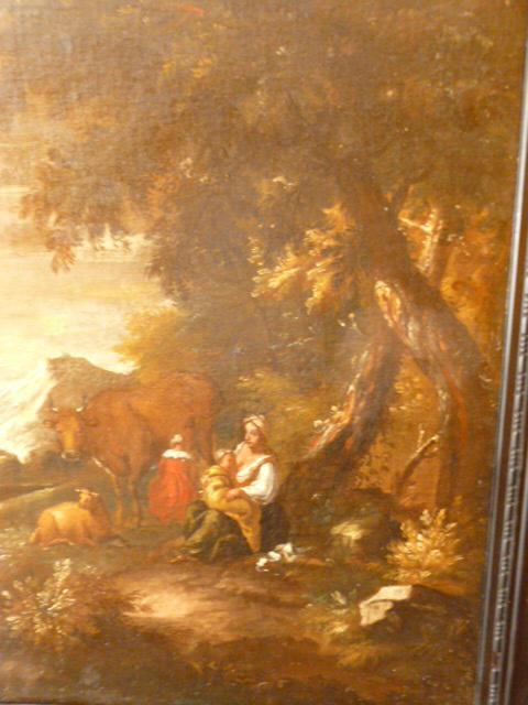EARLY 18TH. CENT.OIL ON CANVAS OF ITALIAN PASTORAL SCENE