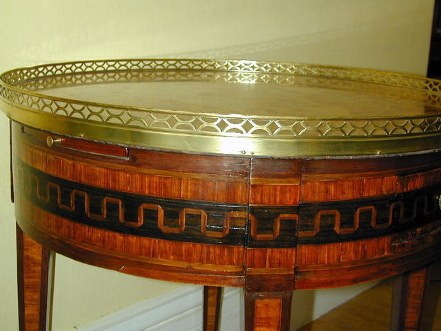 Early French Parquetry Inlay BOUILLOTTE  TABLE