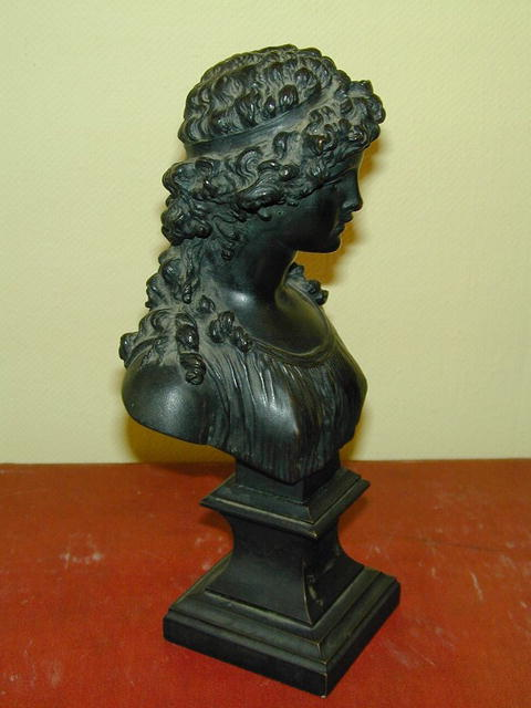 French Bronze, Bust of Girl signed CLODION