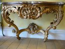 Fine 18th. Cent. Period Gilt And Marble  CONSOLE