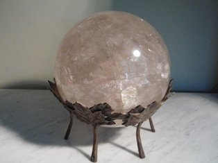 LARGE ROCK CRYSTAL/QUARTZ SPHERE