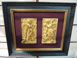 PAIR OF 18th.CENT. GILT BRONZE PLAQUES