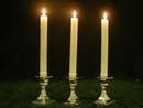 3 English Sterling Silver  Candelholders