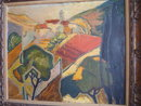 FRENCH OIL ON CANVAS LANDSCAPE SIGNED&DATED