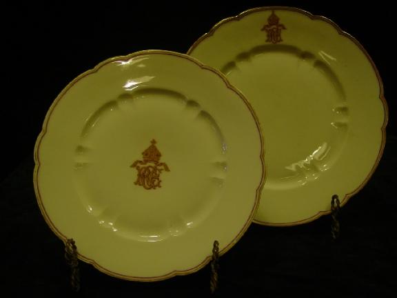 Set of 4 Limoge Dinner Plates +6 Salade Plates