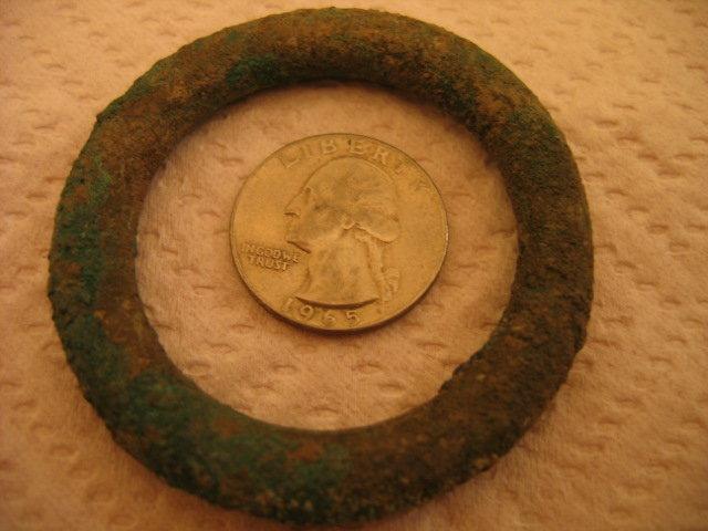 MASSIVE - RARE Celtic Proto Ring Money Dark