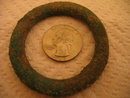 MASSIVE - RARE Celtic Proto Ring Money Dark