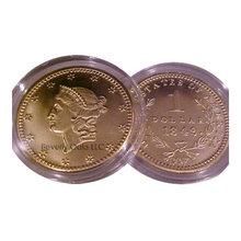 1849 $1 Liberty Gold BU Replica Coin