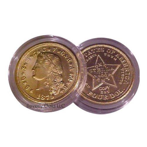 1879 $4 Stella Flowing Hair Gold Replica Coin