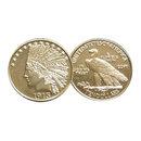 1913 $10 Indian Head Half Eagle Gold Replica Coin