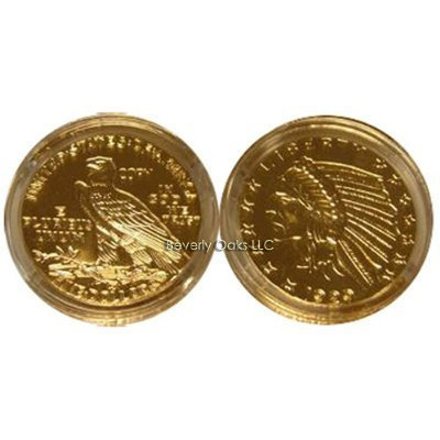 1929 $5 Gold Indian Head Half Eagle BU Replica Coin