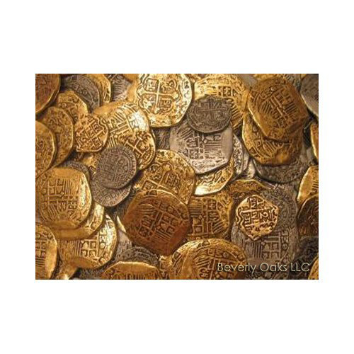 Lot of 50 - Pirate Doubloon Gold Coins
